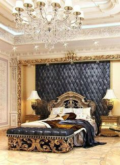 Traditional bedroom in one of the beautiful bedrooms chosen by people who love classic modern bedrooms. traditional design featured with . Royal Bedroom, Gold Bedroom Decor, Bedroom Sets, Dream Bedroom, Modern Bedroom, Bedroom Furniture, Queen Bedroom, Furniture Dolly, Dream Rooms