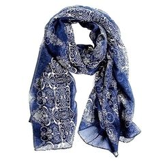 2014 160*70cm High quality Blue and White Porcelain Style Thin Section the Silk Floss Women Scarf Shawl #L033511