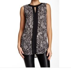 NWT Vince Camuto sleeveless placket front tunic NWT Vince Camuto sleeveless placket front tunic Vince Camuto Tops
