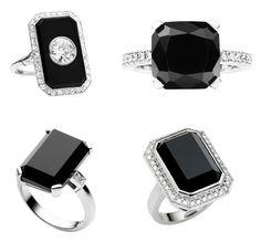 black engaement rings Black Engagement Rings From Jan Logan