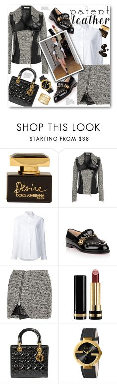 """Patent Leather"" by pomy22 ❤ liked on Polyvore featuring Dolce&Gabbana, Bouchra Jarrar, Misha Nonoo, Christian Louboutin and Gucci"