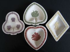 WEDGWOOD JASPERWARE COLLECTORS SOCIETY PLAYING CARD PIN TRAYS