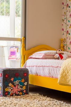 Puff vira criado em quarto infantil feminino