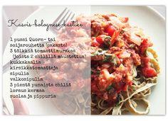 Quorn, Kermit, Bolognese, Vegetarian Food, Grains, Rice, Chicken, Meat, Vegetarian Cooking