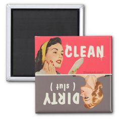 dirty clean dishwasher magnet   www.zazzle.com/dirty_clean_dishwasher_magnet-147630290504512899?rf=238103832244443513&at=238103832244443513&tc-pin