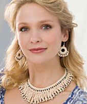 Ravelry: Beaded Necklace and Earrings pattern by Lisa Gentry Free