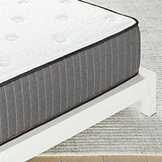 Alchemy Matte Black Full Bed + Reviews   CB2 Leather Headboard, Leather Bed, Black Metal Bed, Metal Canopy Bed, Queen Mattress, Full Mattress, Modern Headboard, Wood Platform Bed, California King Bedding