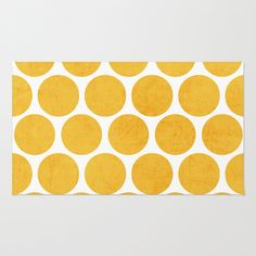 yellow polka dots Rug by Her Art - $28.00