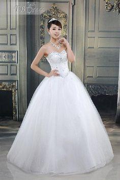 $ 195.29 Tempting Ball Gown Floor-length Strapless Wedding Dress