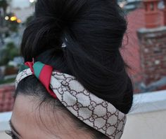 Gucci scarf as headband Gucci Headband, Headband Wrap, Headbands, Cheap Handbags, Gucci Handbags, Gucci Bags, African Prom Dresses, Fashion Accessories, Hair Accessories