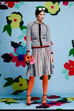 Thom Browne - Resort 2015 - Look 14 of 32  WOW amazing sweater skirt