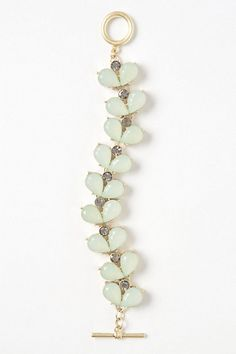 I'm not really a big jewelry person, but this is seems understated enough to work for everyday life $28.00 Mint Gemleaf Bracelet Anthropologie