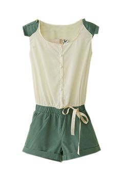 Short Sleeve Slim Jumpsuits  $45.99 #Romwe