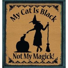 Witchcraft Black hat Sisterhood Primitives Witches Signs Wicca witch | SleepyHollowPrims - Seasonal on ArtFire