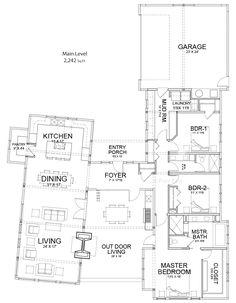 U Shaped House Plans Single Level | Home Ideas--floor plans ...