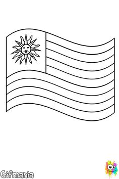 the flags coloring pages called flag of uruguay to coloring the flag of uruguay the great symbol of the country is available in a coloring page