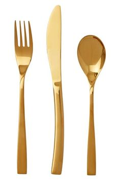 Smith + Nobel 32pc Gold Plated Cutlery Set Ouro