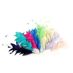 """For fascinators CO051 Coq Stripped 10/"""" x 10 feathers hats /& craft use"""