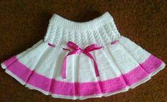 Crochet Skirts, Knit Skirt, Knit Dress, Baby Cardigan Knitting Pattern, Baby Knitting Patterns, Baby Girl Dresses, Girl Outfits, Moda Crochet, Baby Girl Patterns