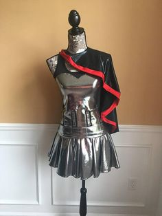 Captain Silver Troop Performance Running costume outfit Athletic Skirts, Athletic Outfits, Captain Phasma Costume, Captain Costume, Gwendolyn Christie, Running Costumes, Style Me, Tank Tops, How To Wear