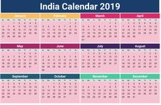 image for india calendar 2019 with holidays 2019 calendar holidays indian template