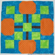 Sew Joy: Pumpkin Patch Block - Glorious Autumn Block Party Day