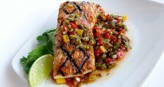 Mahi Mahi with Roasted Poblano Pico Healthy Meals, Healthy Recipes, Mahi Mahi, Fresh Vegetables, Feel Better, Gourmet Recipes, Healthy Lifestyle, Roast, Paleo