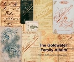 """View The Goldwater Family Album by Graham Goldwater and Audrey Jones. Blurb book. Graham Goldwater is the photography technician who photographed Sara Davidmann's archive (""""Ken. To be destroyed"""") in a collaboration with her."""
