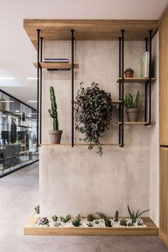 Bureau Design, Office Interior Design, Office Interiors, Office Wall Design, Small Office Design, Office Designs, Design Interiors, Green Shelves, Deco Restaurant