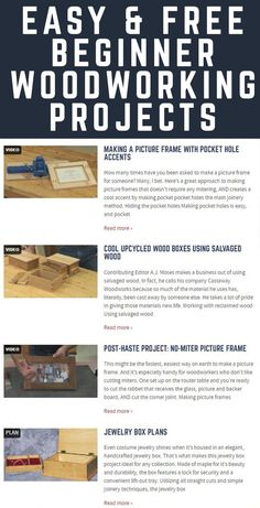 WWGOA welcomes you to our beginner woodworking projects video page! As a budding master woodworker our beginner woodworking online videos will teach you essential woodworking techniques. We encourage you to browse our free beginners woodworking projects videos and become a member to gain access to an even larger woodworking video library.