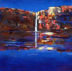 Landscape painting - art - Helen Norton - Kimberley Waterfall
