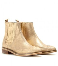 Opening Ceremony Flat Suede Chelsea Boots - Lyst