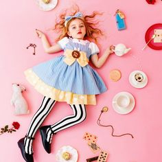 Alice in Wonderland kid photoshoot setup Colorful Fashion, Kids Fashion, Child Models, Cool Baby Stuff, Kids Wear, Children Photography, Kids And Parenting, Cute Kids, Alice In Wonderland