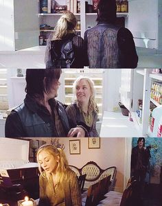 Daryl & Beth (The Walking Dead). So pinning this cause I find this romance has been written so different. They didn't consider each other at first, they had no reason to! Beth thought Daryl was redneck & Daryl thought Beth was silly. But they finally have a chance to see each other's qualities without Hershel, Maggie & Rick overseeing them. She has enough innocence to earn his love. He wouldn't fall in love with someone hardened by the world. Plus they both love kids! <- pinning for this…