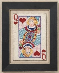 Playing Cards Queen Stitch Kit