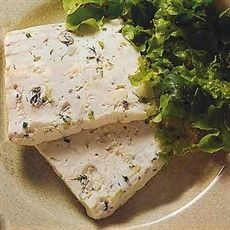 This is a real winner: a light terrine made with three luscious Italian cheeses… Pate Recipes, Cheese Recipes, Gourmet Recipes, Terrine Recipes, Vegetarian Recipes, Tapas, Italian Cheese, Charcuterie, High Tea