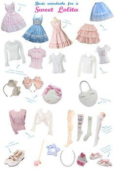 Basic Sweet Lolita Wardrobe Necessities.