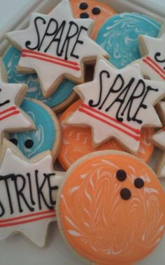 Retro Bowling Cookies - SweetPea Cake & Cupcake Boutique