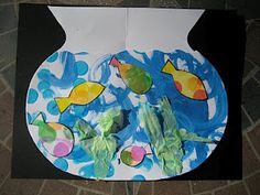 Colorful Bowl of Fish project to pair with reading One Fish Two Fish Red Fish Blue Fish or The Rainbow Fish