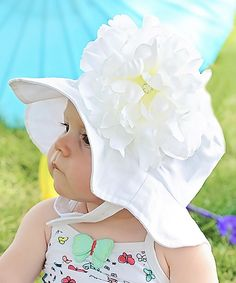 Loving this White Peony Sunhat on #zulily! #zulilyfinds