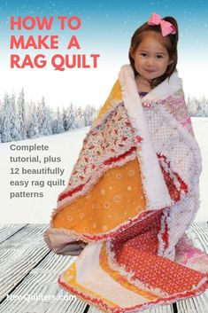 A Beginner's Guide to Rag Quilting book Rag Quilt Patterns, Pillow Patterns, Quilting For Beginners, Quilting Tips, Jersey Quilt, Quilt Labels, Book Quilt, Easy Quilts, Love Sewing