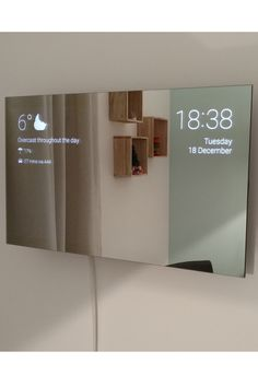(click in photo for watch now) The best tips! Smart Home Design, Home Room Design, Smart Mirror Diy, Diy Mirror, Smart Home Technology, Technology Gadgets, Home Gadgets, Diy Tech Gadgets, Smart Home Automation