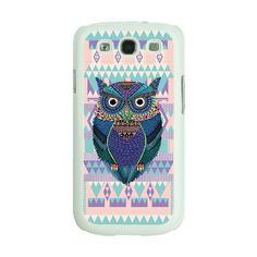 White frame Designer fashion owl aztec geometric whimsical purple Samsung Galaxy S3 i9300 Case Back cover-Hard Plastic and Metal, http://www.amazon.com/dp/B00CISI810/ref=cm_sw_r_pi_awdm_fhfatb0DPV623