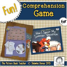 This True False Comprehension Game for the book How I Spent My Summer Vacation is a fun way to practice reading skills and strategies. Great for centers and small groups.