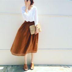 Minimalist and elegant fashion inspiration! Japan Fashion, Work Fashion, Modest Fashion, Skirt Fashion, Daily Fashion, Everyday Fashion, Fashion Looks, Fashion Outfits, Womens Fashion