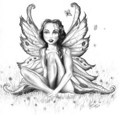 Open Wings Fairy Tattoo Sample