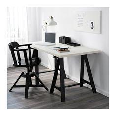 LINNMON / ODDVALD Pöytä - valkoinen/musta - IKEA 49€