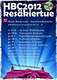 Hard Book Cafe -kiertuejuliste 2012