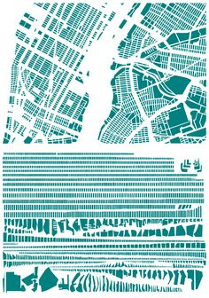 "block pattern art! | ""New York"" by French artist Armelle Caron. 