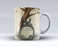 Totoro Under The Tree Coffee Mug Tea Mug Coffee Cup Funny Mug Ceramic Hot and Cold Beverages 525C